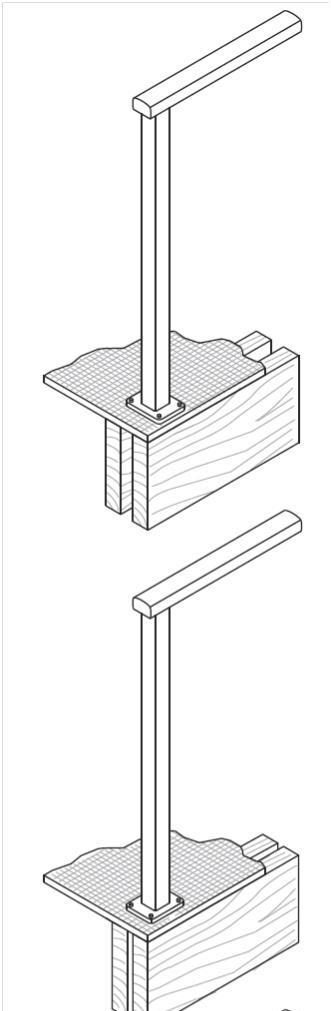 Canterbury Balustrade | Fixings Timber | Top Fixed Post