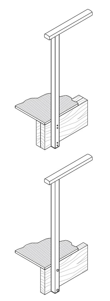 Canterbury Balustrade | Fixings Timber | Side Fixed Post