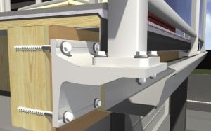 Canterbury Balustrade | Fixings timber | Gutter bracket visual