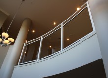 Canterbury Balustrade | Framed Glass |Camden Style | Curved Top Rail