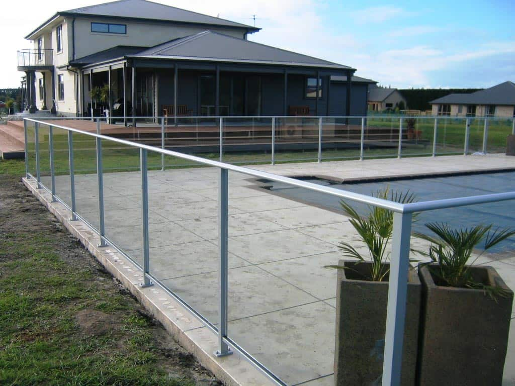Framed glass pool fences canterbury balustrades for Glass pool fences