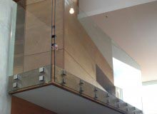 Canterbury Balustrade   Frameless Glass   Stand-off 50mm Sq