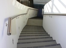 Canterbury Balustrade   SS Handrail   Curved