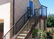 Aluminium Balustrade - External stairs