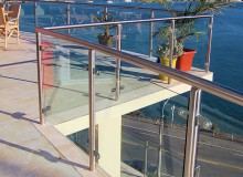 Custom Balustrade - SS Framed - Tab fixed Glass Infill