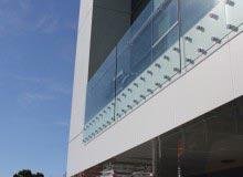 Canterbury Balustrade   Frameless Glass   50 mm Round Standoff