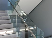 Canterbury Balustrade | Frameless Glass | 50 mm Round Standoff
