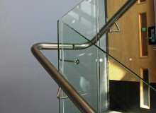 Canterbury Balustrade | SS Handrail | Through Glass