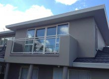 Custom Balustrade - Retro Fit- Steel Frame Glass Infill