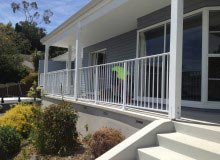 Aluminium Balustrade Fitted Between Posts