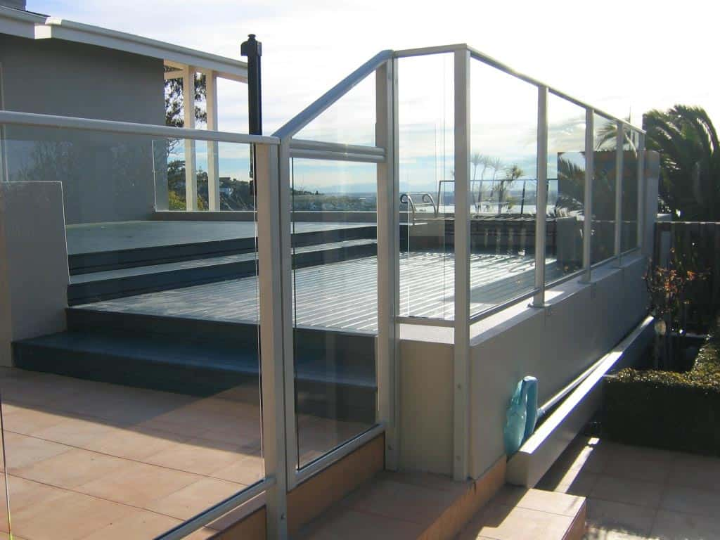 Framed glass pool fences canterbury balustrades for Glass pool gate