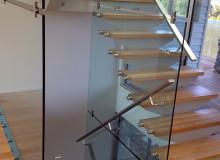 Canterbury Balustrade   Frameless Glass   Internal Exposed Tread & Glass Wall