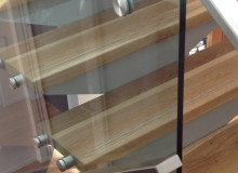 Canterbury Balustrade   50 x20 SS   Glass fixed handrail