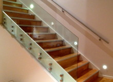 Canterbury Balustrade | Frameless Glass | Internal Stair | 50mm Round SS Standoff Fittings